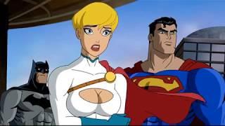 Супермен и Бэтмен против супергероев Лютора ч 2