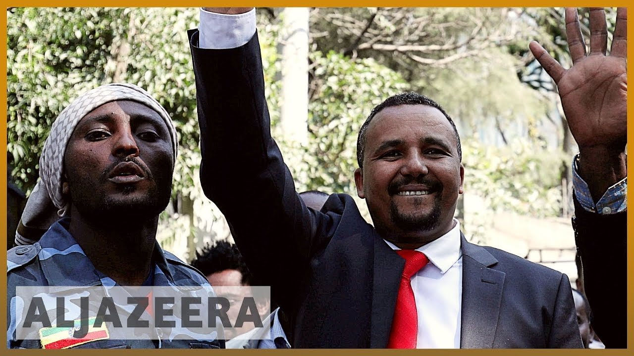 Ethiopia protests: Police surround activist's home
