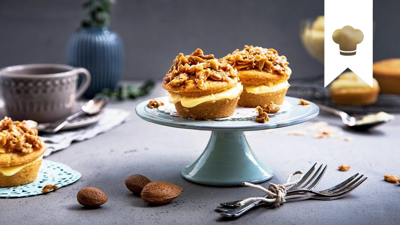 Bienenstich Cupcakes Selber Machen I Muffins Mit Pudding Und Mandeln