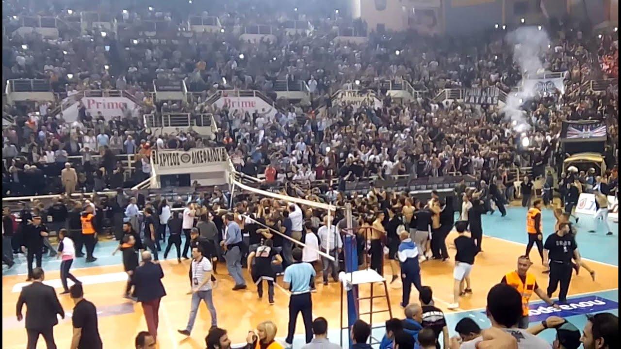 Paok Olympiakos: Paok-Olympiakos Volley 30/4/2015 (last Points)