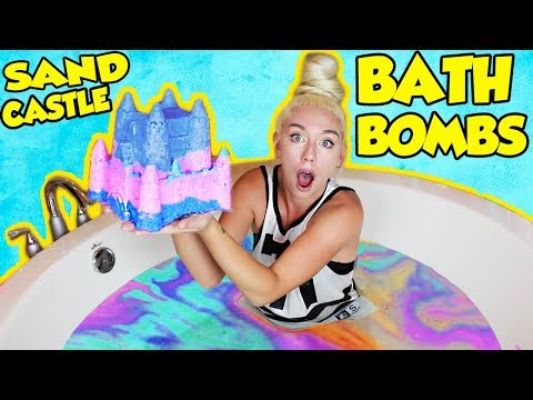 DIY GIANT CASTLE BATH BOMBS! How To Make The Most SATISFYING Bath Bomb Ever! | NICOLE SKYES