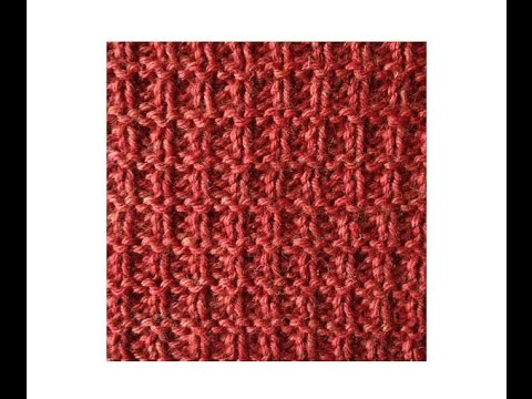 How To Knit The Grid Stitch Youtube