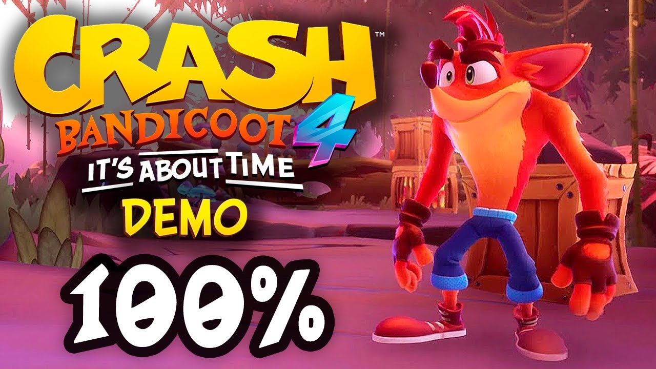 TERMINANDO A FASE FUGA DINOSSÁURICA (100%) 🦖 | Crash Bandicoot 4: It's About Time (DEMO)