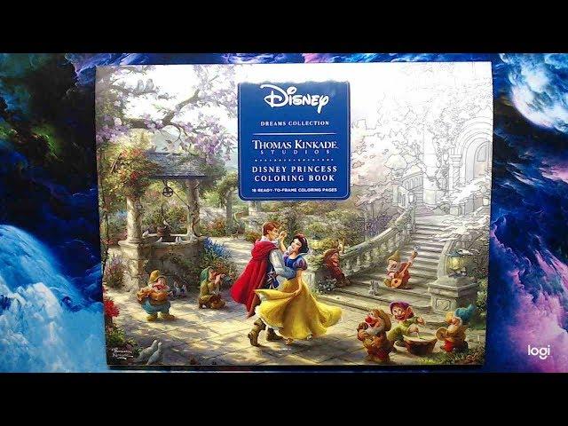 Thomas Kinkade Disney Princess Coloring Book Flip Through - YouTube
