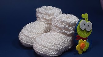 Crochet baby shoes Majovel crochet