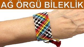 Ağ örgü huichol bileklik (Friendship mesh bracelet)