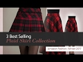 3 Best Selling Plaid Skirt Collection Amazon Fashion, Winter 2017