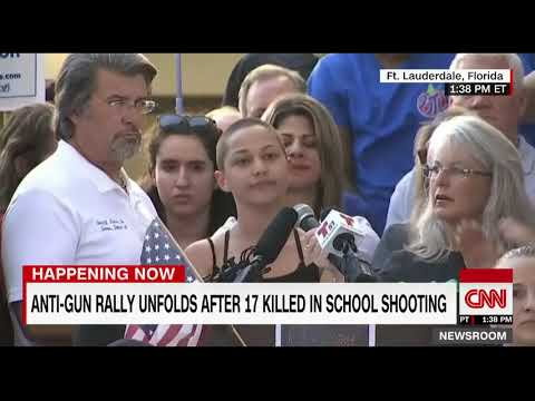 Speech from student Emma Gonzalez on guns and NRA