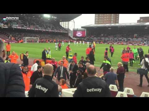 Mark Clattenburg faces the fury of WHUFC fans
