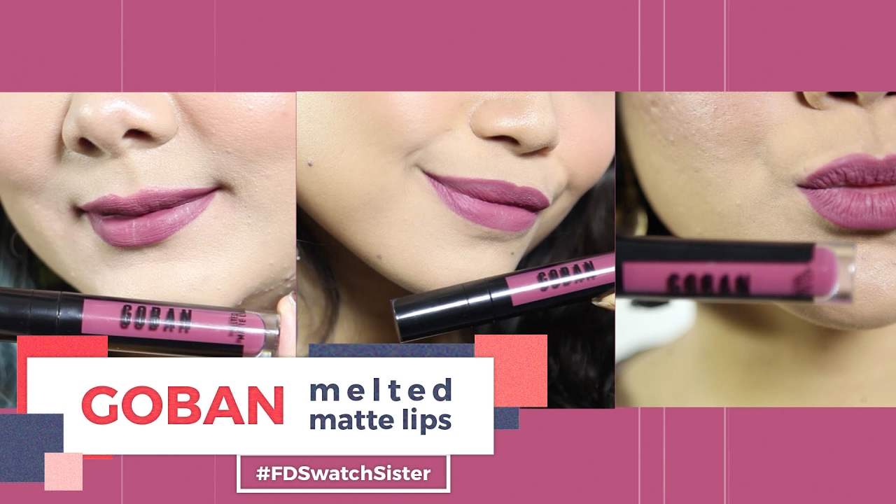 Goban Cosmetics Melted Matte Lip Fd Swatch Sister Pixy Cream Ready All Color 01 12