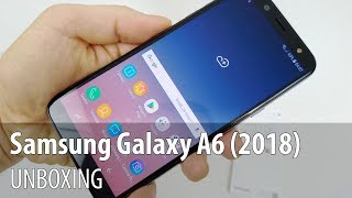Samsung Galaxy A6 (2018) Unboxing (Midrange Infinity Display Phone)