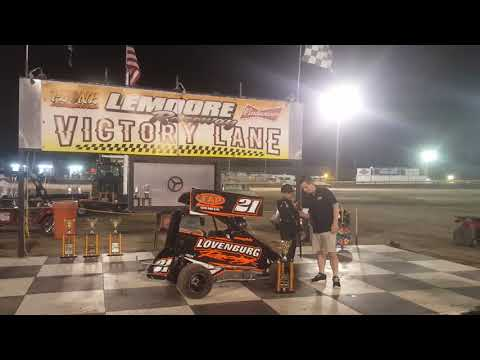 Lemoore Raceway 9/29/18 Jr Sprint Cash Interview after 2nd win