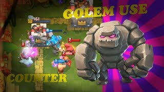 Clash Royale:How to Use and Counter GOLEM