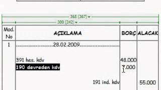 KDV tahakkuku kayıtları örnekler, ay sonu kdv tahakkuk muhasebe kaydı, 191 ve 391