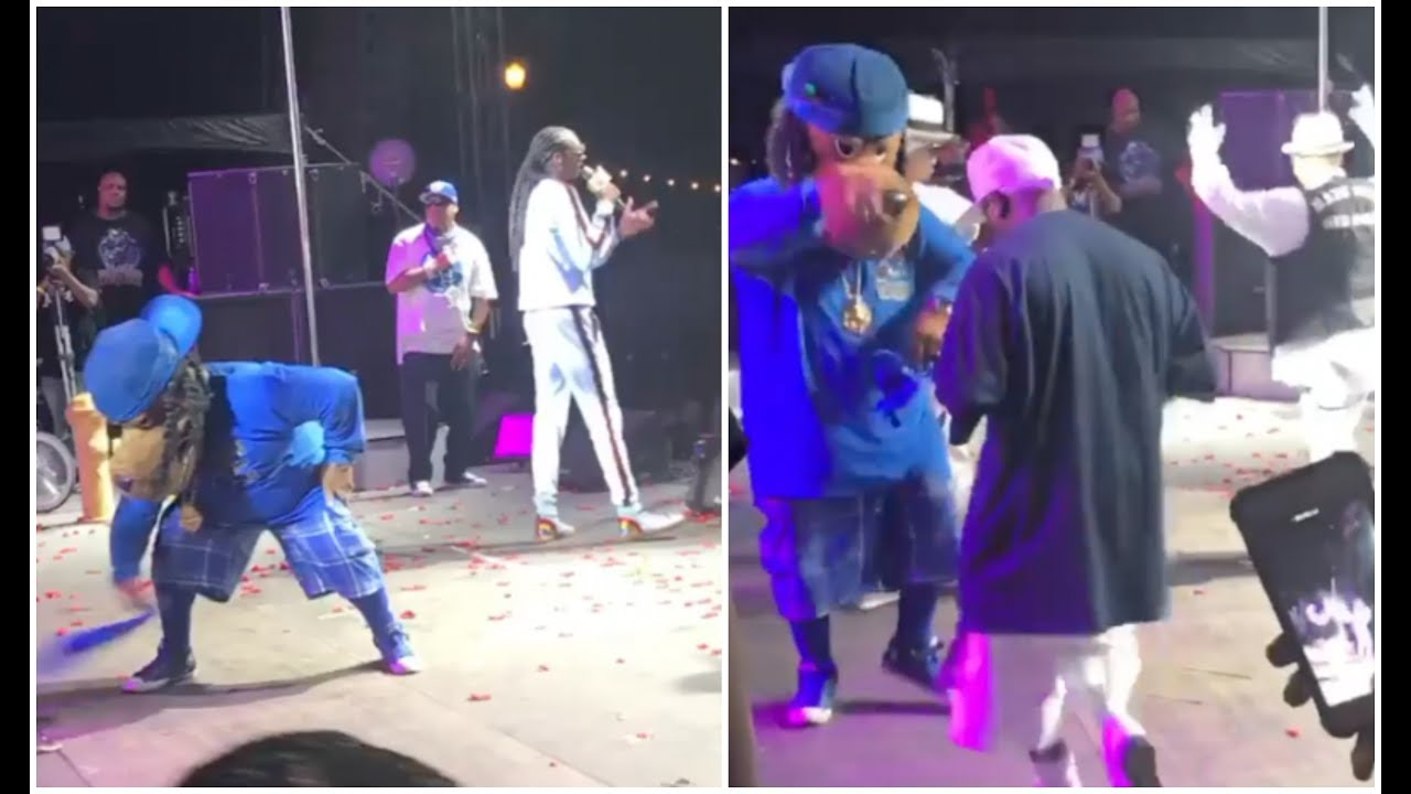 Snoop Dogg Brings Crips On Stage At Gospel Fest C Walk w Mascot