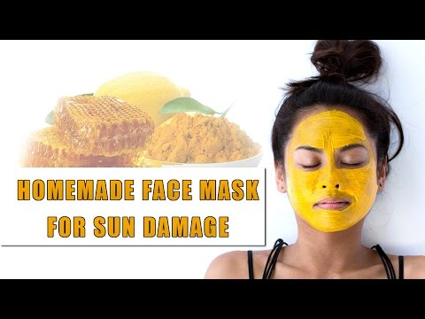 Homemade Face Mask for Sun Damage | Natural remedy for Uneven skin tone, age spots, sun spots, acne