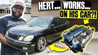 "Hert's GS300 Build Goes From ""Simple Build"" to Full On Swap: 2JZ-GE to Aristo 2JZ-GTE!"