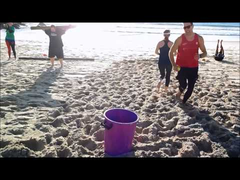 12 Week Challenge Beach training session intense group fitness and exercise sand workout