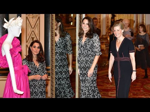 Glamorous Kate & Sophie team up to host fashion event at Buckingham Palace