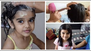 My Daughter's Hair Care Routine - 4 Year Old Girl Long Hair Care Routine