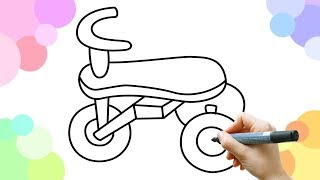 Learn how to draw a tricycle for kids