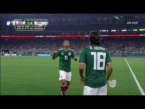 Diego Lainez vs Uruguay (Friendly) - 9/7/18 HD 720p By EE