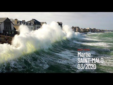 Marée 117 Mars 2020 filmée en drone - Saint-Malo - Bretagne