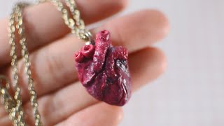 DIY Anatomical Human Heart Necklace - TUMBLR INSPIRED