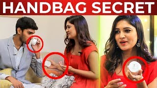 Vani Bhojan Handbag Secrets Revealed | Deivamagal | What's Inside the HANDBAG