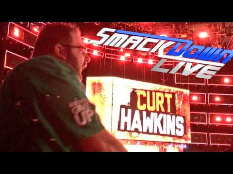 MEETING AJ STYLES! HECKLING CURT HAWKINS! INSANE PARKING LOT MATCH! WWE SMACKDOWN LIVE REACTIONS!