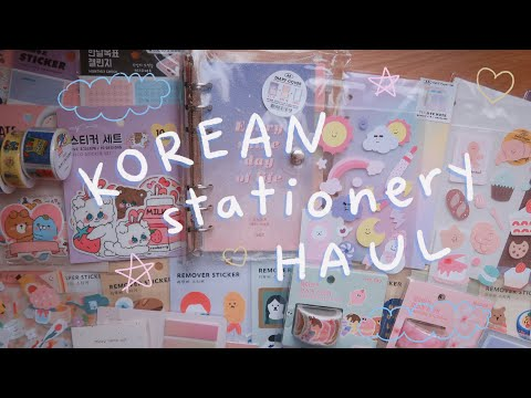 Korean Stationery Haul (ARTBOX)  🇰🇷  + Real Time Journal With Me | Rainbowholic