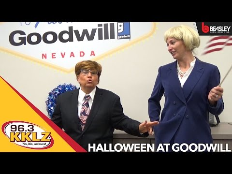 Halloween at Goodwill: Carla Rea and Aimee get costume advice