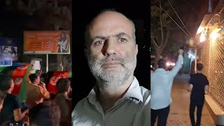 video: Kabul echoes to chants of 'God is Great' as citizens turn out on roof tops to shout defiance against Taliban