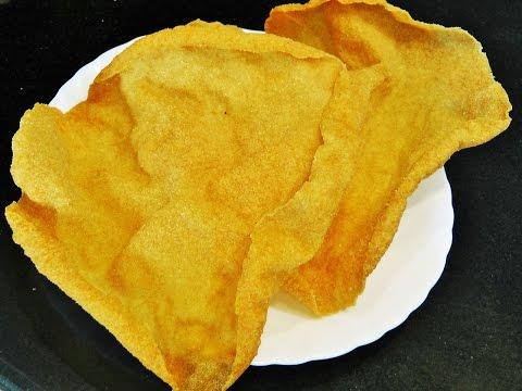 खुसखुशीत पोह्यांचे पापड   Pohyanche papad   Flattened Rice Recipe   MadhurasRecipe