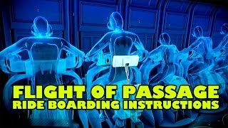 Flight of Passage Attraction Boarding Instructions Pandora World of Avatar Walt Disney World Animal