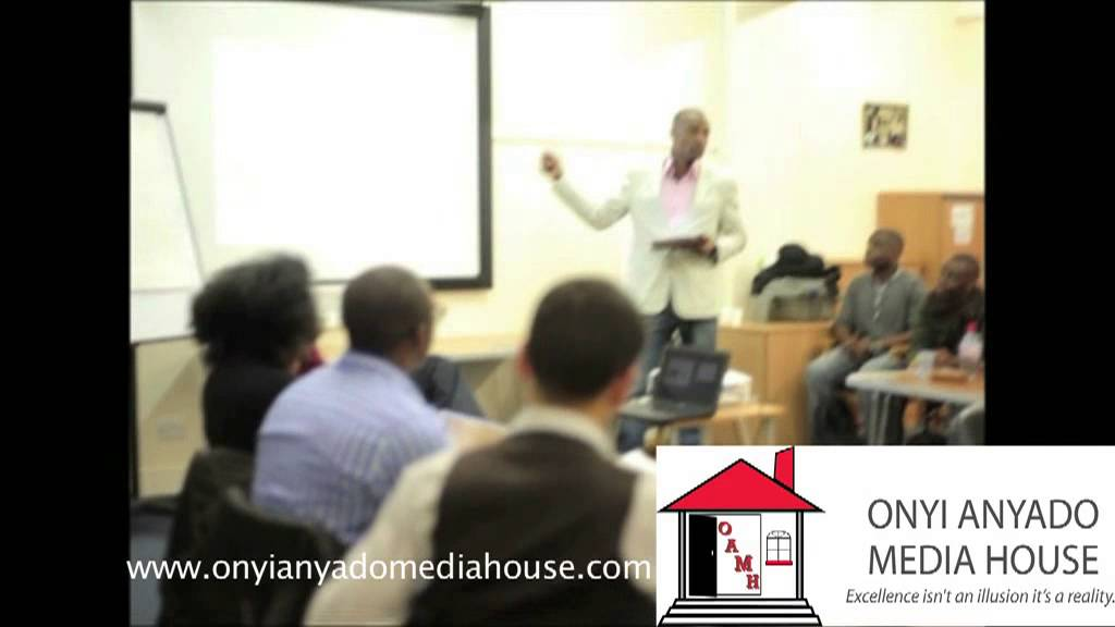 Onyi Anyado delivering a keynote on time management at 'Raise Your Game' Seminar. Part 6