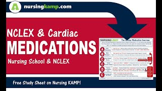 What are NCLEX Cardiac Meds Nursing KAMP' Priority Process Medications NCLEX  2020