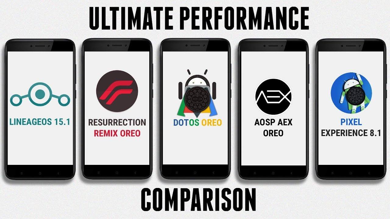 LineageOS 15 1 vs Resurrection Remix Oreo vs dotOS vs AOSP AEX vs Pixel  Expirence | Performance Test
