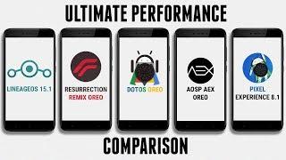 LineageOS 15.1 vs Resurrection Remix Oreo vs dotOS vs AOSP AEX vs Pixel Expirence | Performance Test