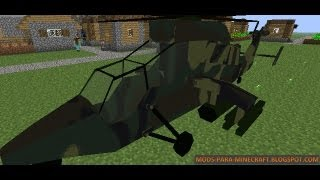 Minecraft|MC Helicopter Mod Review e Instalacion|,1.6.4