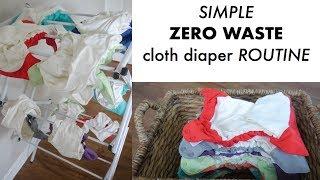 simple ZERO WASTE Newborn Baby CLOTH DIAPER ROUTINE