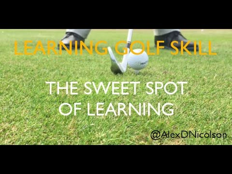 The sweet spot of learning