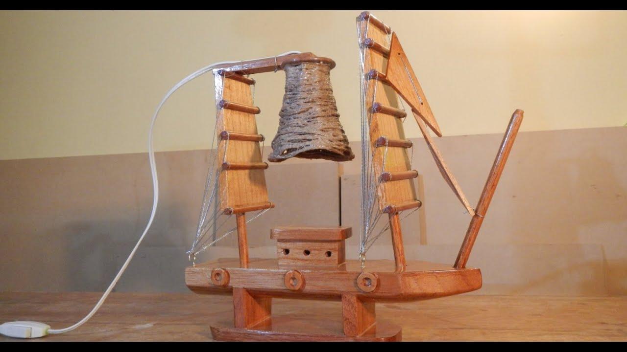 Hagalo usted mismo lampara de madera facil paso a paso barco adorno luis lovon youtube Lamparas de madera