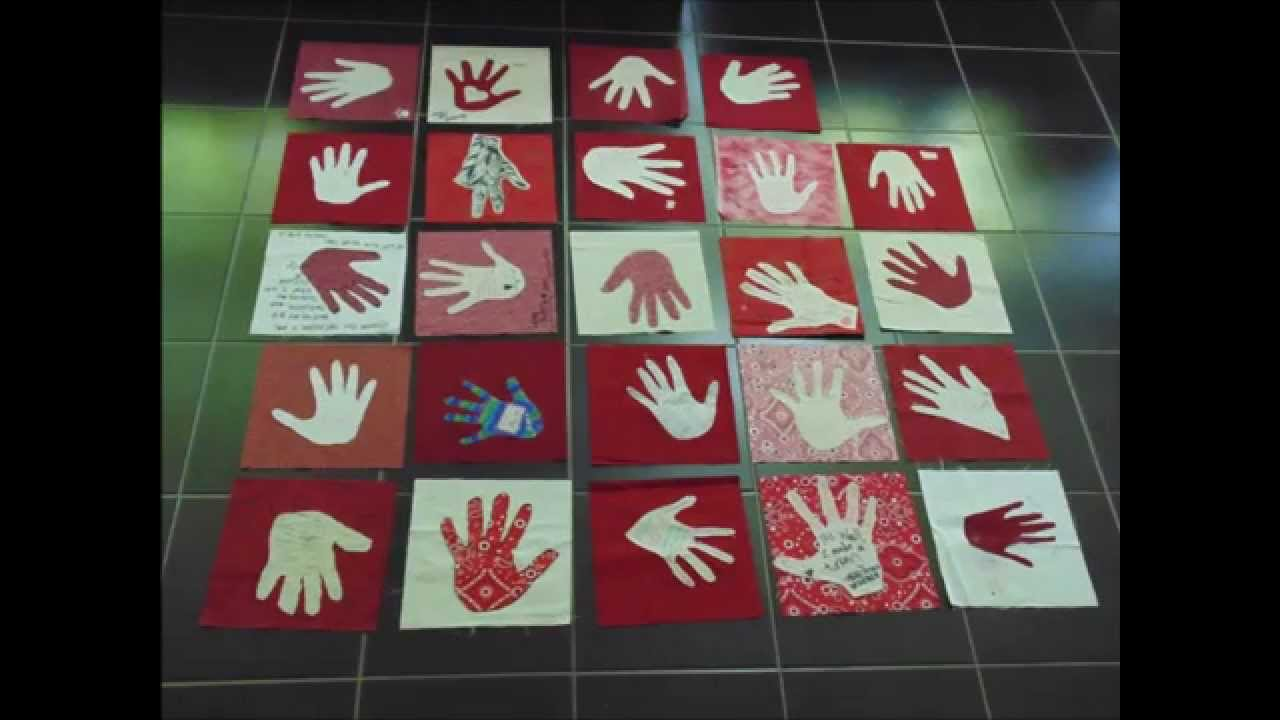 Week kevin wall memorial quilt handprint youtube