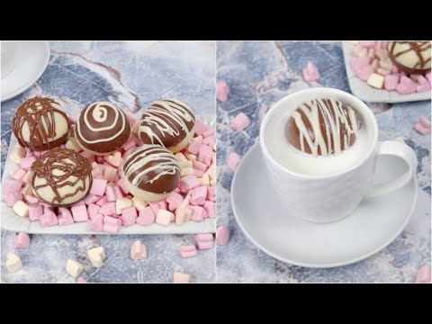 Hot chocolate balls perfect for the holidays