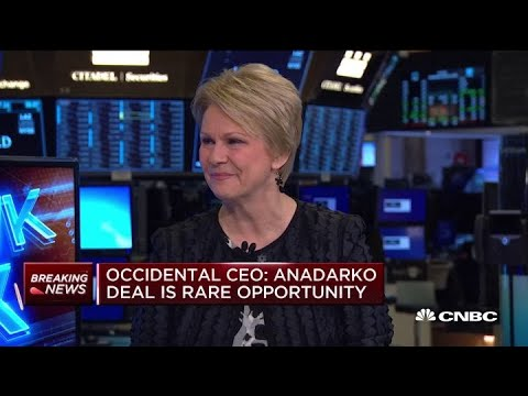 Occidental CEO discusses the decision to make a formal bid for Anadarko