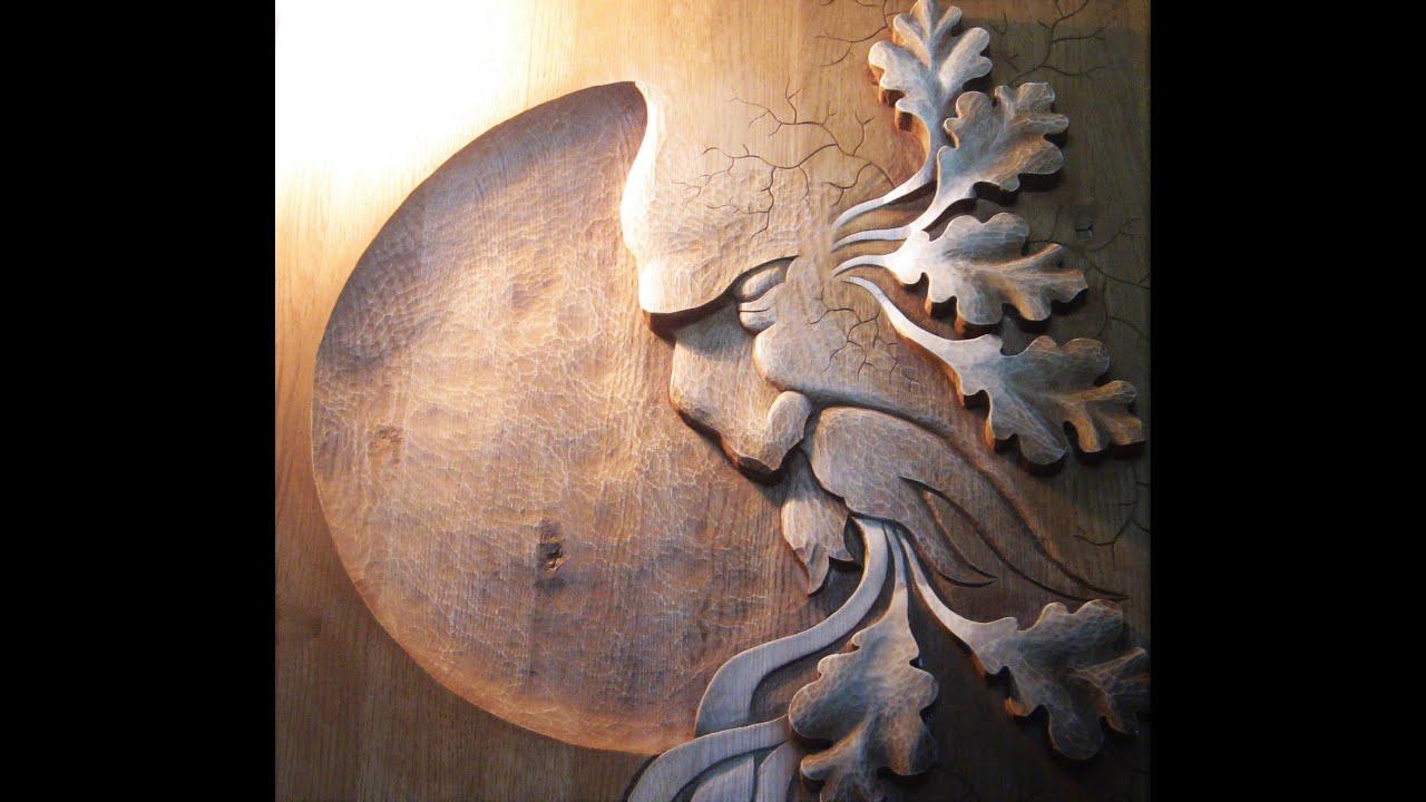 Green man wood carving řezbářství horský duch youtube