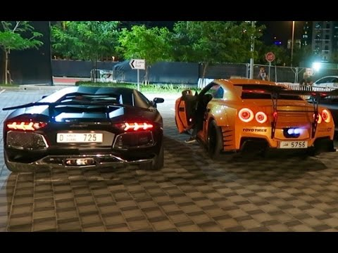 THE CRAZIEST CARS IN DUBAI !!! LAMBORGHINI VS NISSAN GTR !!!