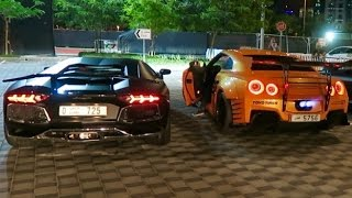 THE CRAZIEST CARS IN DUBAI !!! LAMBORGHINI VS NISSAN GTR !!!