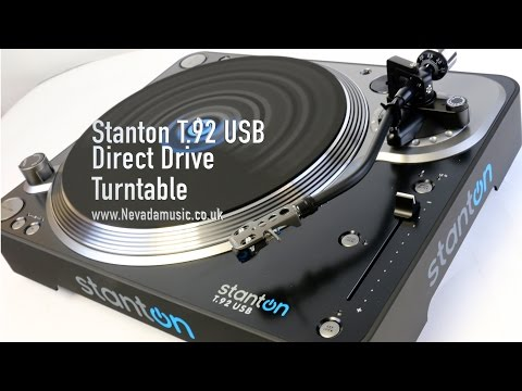 Stanton T.92 USB & Line Output Turntable Unboxing and Review | PMT